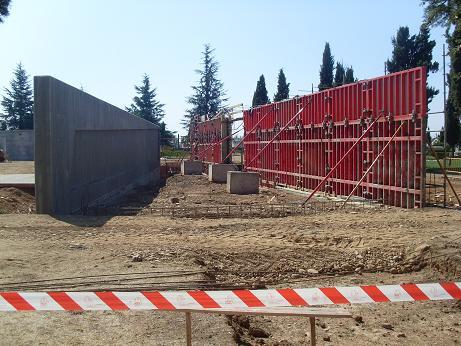 Avance de la obras en septiembre de 2009